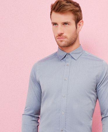 AYRFRIE Mini dobby design cotton shirt
