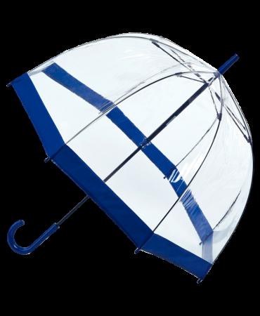 Fulton Birdcage Umbrella Clear With Black Trim