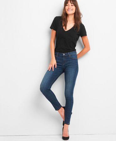 Low rise true skinny jeans
