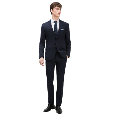 Textured 3 piece suit Classic button fastening